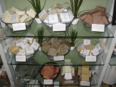 displaying soap baskets